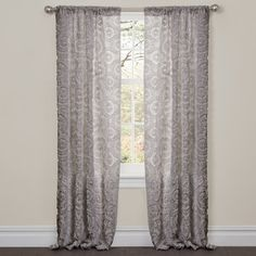 Stella Window Single Curtain Panel   Wayfair