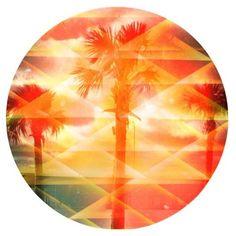 kaleidoscope Tropical Tile, Light Effect, Beautiful Lights, Rainbow Colors, Booklet, Palm Trees, Scrapbook, Space, Random