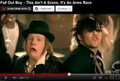 """I always looked at Pete in this video( this aint a secene, its an arms race) and would say to myself """" Pete Wentz is still adorable with that face"""" but I never saw Patrick's face like that!!!! Lol!!!"""