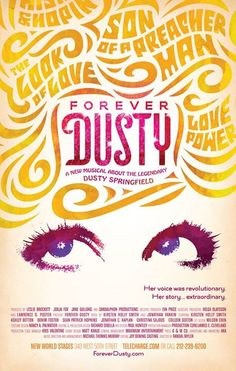 Forever Dusty lettering poster