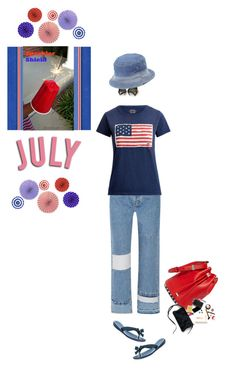 """""""Enjoy the 4th!!"""" by sherry7411 ❤ liked on Polyvore featuring Current/Elliott, Ralph Lauren, GUESS, True Religion and Alexander Wang"""