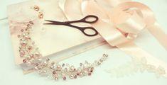 The Vintage Rose Swarovski and fresh water pearl hair vine
