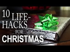 """Wrap a present in a Chip Bag (inside out); fold your Christmas Letter into its own """"envelope""""; make wrapping-paper holders from toilet paper rolls and used foil; turn wrapping paper back into a thank-you card, and more great ideas!  http://macgyverisms.wonderhowto.com/how-to/10-holiday-life-hacks-you-need-know-for-merrier-christmas-0149731/"""