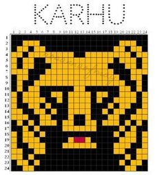 Musta tuntuu, että tää blogi on pystyssä ja elossa karhusukkien neulojien ansiosta, koska se on tän blogin etityin ja luetuin postaus. Hien... C2c Crochet, Crochet Chart, Cross Stitch Patterns, Knitting Patterns, Knitting Charts, Knitting Socks, Image Chart, Fair Isle Knitting, Tejidos