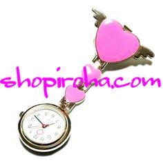 ナースウォッチ エンジェルハート 天使の羽 白衣の天使 pink ピンク 文字盤が逆さクリップで簡単取り外し看護師さん介護士さん必見の時計shopiroha.com送料無料