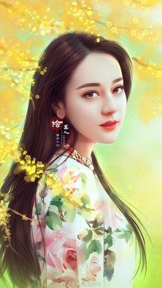 hanfu movement , ancient chinese clothing female hanfu vs kimono, ruqun, hanfu pattern, shenyi who made Beautiful Chinese Girl, Beautiful Fantasy Art, Lovely Girl Image, Painting Of Girl, Digital Art Girl, Beauty Full Girl, Fantasy Girl, Beauty Art, Anime Art Girl