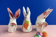 How to fold a Bunny Napkin for Easter   Red Ted Art's Blog   Bloglovin'