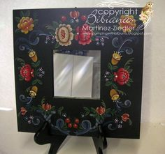 German Mirror by Stamping with Bibiana #decoartprojects