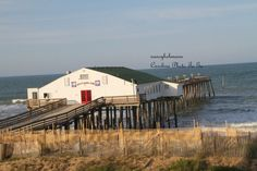 Items similar to Pier at Kitty Hawk North Carolina, Outer Banks of North Carolina Ocean, Sea, Fishing on Etsy North Carolina Beaches, North Carolina Homes, Kitty Hawk North Carolina, Places To Travel, Places To See, Silver Wings, Carolina Blue, Board Ideas, Vacation Spots