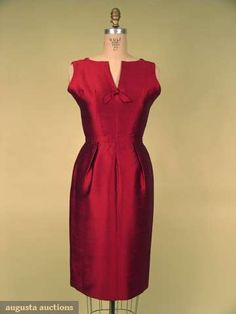 Christian Dior Cocktail Dress, Early 1960s, Augusta Auctions, May 2008 Vintage Fashion & Antique Textile Sale, Lot 622