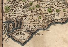 Morden's map of Sussex - 1696 Selsey was once Seal Island - you can still see seals bobbing around just off the coastline!