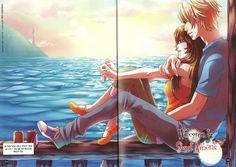 Lynn ( Docete ) e o Nathaniel  Amour Sucré ( Amor Doce )  Loucas por Amor Doce: Imagens do Vol.2 do Manga