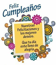 Feliz cumpleaños Happy Birthday In Spanish, Happy Birthday Art, Happy Birthday Celebration, Happy Birthday Pictures, Birthday Greetings, Fruit Birthday, Birthday Dates, Birthday Messages, Birthday Clips