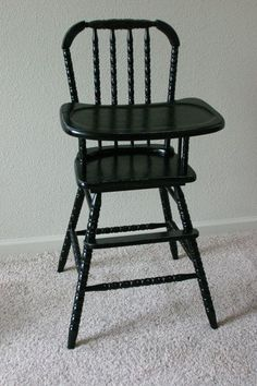 Refinished Jenny Lind Wooden Highchair Wood Vintage High Chair New