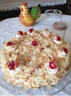 Greek Desserts, Pastry Art, Camembert Cheese, Macaroni And Cheese, Almond, Cooking Recipes, Lady Fingers, Ethnic Recipes, Mary