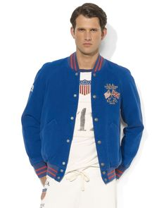 Ralph Lauren Team USA Olympic Satin Twill Jacket | Bloomingdale\u0027s