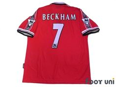 """""""Manchester United 1998-2000 Home #7 Beckham""""  Classic , old clothes , it is the net shop of vintage football shirts(Soccer Jerseys). Assortment of difficult rare item available is also abundant."""