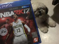 My dog is mad at me because she thinks that I will ignore her because of NBA 2K17.