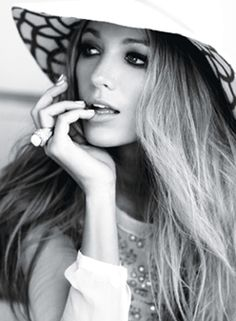 Blake Lively in Glamour's Bardot-inspired shoot. Glamorous, indeed!
