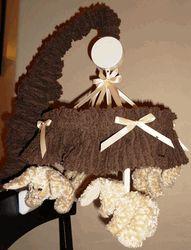 "BedeBye 10"" Chenille Ruffle Baby Crib Mobile"