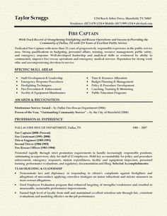 1000 ideas about firefighter resume on pinterest sample