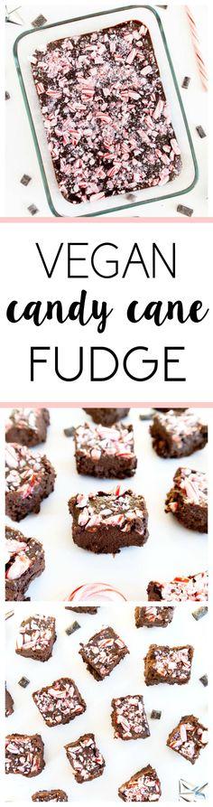 vegan candy cane fudge--calls for coconut oil