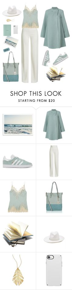 """""""Incognito"""" by ms-wednesday-addams ❤ liked on Polyvore featuring Chloé, adidas Originals, Brandon Maxwell, Carine Gilson, MKF Collection, Eugenia Kim, Hueb, Speck, sneakers and coat"""