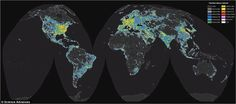 The global map reveals light pollution around the world.An international team used high-resolution satellite data and sky brightness measurements from all all over the world to produce the incredible global atlas of light pollution.