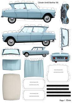 #Citroen ami 6.  Paper model. I'll be making this tonight!