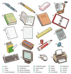 Learning the vocabulary for classroom objects
