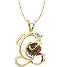 http://www.allyoursjewels.com/rudraksh-ganesha-diamond-pendant/ Made in Real Diamond &18kt Gold.Customize As per your Style and Budget.