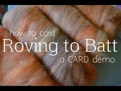 How to Card Roving into a Batt Spinning Wool, Hand Spinning, Library Book Displays, Roving Wool, Fiber Art, Preschool Bulletin, School Libraries, Elementary Library, Book Trailers