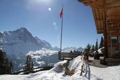 Swiss Chalet lunch while skiing  at Grindelwald Switzerland in the Jungfrau www.luxuryskitrips.com
