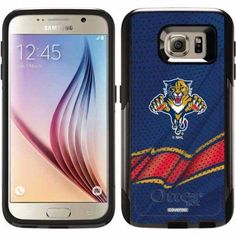 Florida Panthers Home Jersey Design on OtterBox Commuter Series Case for Samsung Galaxy S6