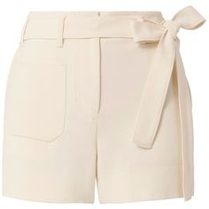 Helmut Lang Women's Patch Pocket Short ($249) ❤ liked on Polyvore featuring shorts, bottoms, short, pants, ivory, helmut lang, high waisted shorts, short shorts, high rise shorts and sash belt