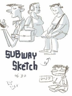 Subway Sketch by Unoo , via Behance