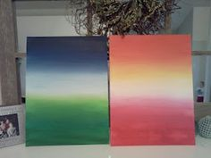 ombre art - love the two different colors