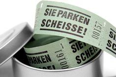 Billeterie Parken // Parking tickets by JR sewing via DaWanda.com