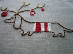 A festive pup tutorial. @ lee Ann Stilwell. May I have a kitchen towel in this!