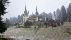 Peleș Castle Romania, in the winter.