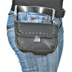 Amazon.com: Leather Hip Bag / Leather Purse Studded Clips to belt loops / Hands Free: Cell Phones & Accessories
