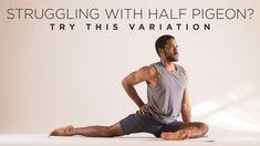 Does half pigeon pose frustrate you? Give this alternative a try. Yoga Bewegungen, Yin Yoga, Yoga Flow, Yoga Poses For Men, Yoga For Men, Pidgeon Pose, Yoga International, Bedtime Yoga, Relaxing Yoga