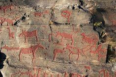 Namforsen Sweden Rock Art Petroglyphs Pictographs Scandinavia