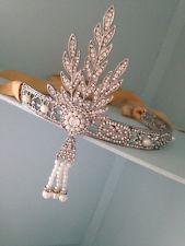 Flapper Headwear Great Gatsby . Bridal Headwear . Fancy Dress / Prom Head Wear