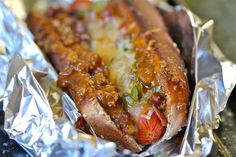 Oven Baked Turkey Chili Dogs by Cooking with my Kid as part of the Friday Five - Hot Dog addition - Feed Your Soul Too