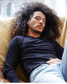 potential hair color and style mens hairstyles black hair Black Men Hairstyles, Haircuts For Men, Trendy Hairstyles, Haircut Men, Long Haircuts, Curly Hair Styles, Natural Hair Styles, Long Curly Hair Men, Long Curly Hair