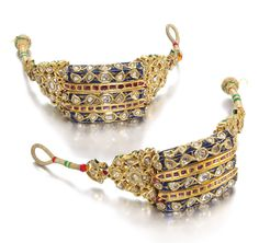 Indian Jewellery sold at London, 23 october 2019 - Alain. Antique Jewellery Designs, Antique Jewelry, Jewelry Design, Victorian Jewelry, Indian Jewelry Sets, Royal Jewelry, Mughal Jewelry, India Jewelry, Rajputi Jewellery