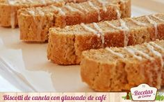 Biscotti de canela con glaseado de café -  Los Biscotti di Prato, también conocidos como cantuccini, son unos dulces típicos de Prato, una localidad italiana situada en la región de Toscana. Si bien la receta original consistía en una base de harina, huevo, azúcar y almendra, hoy es posible encontrar numerosas versiones como esta de cane... - http://www.lasrecetascocina.com/biscotti-de-canela-con-glaseado-de-cafe/