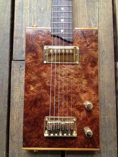 No 028  Cohiba Burl Cigar Box Guitar by Smoke by SmokeRingGuitars, $450.00