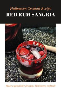 Red Rum Sangria Recipe. A ghoulishly refreshing Halloween cocktail recipe is SO yummy and a fun cocktail idea to serve at your Halloween party. Halloween Cocktails, Halloween Party, Halloween Recipe, Sangria Recipes With Rum, Cocktail Recipes, Types Of Red Wine, Easy Paper Crafts, Diy Crafts